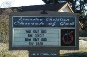 give God the cash