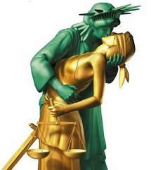 liberty kissing justice
