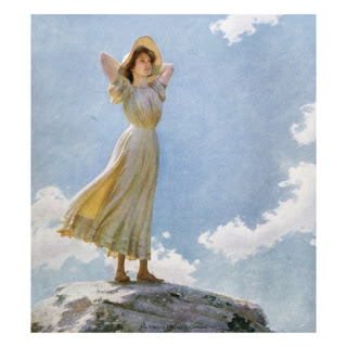 illustration-of-a-woman-on-the-top-of-a-mountain-by-charles-courtney-curran