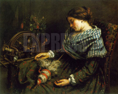 the-sleeping-spinner gustave courbet