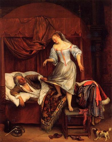 couple-in-a-bedroom-Jan Steen