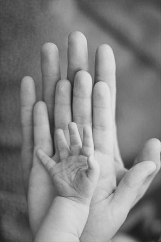 father-mother-baby-hands-life-art