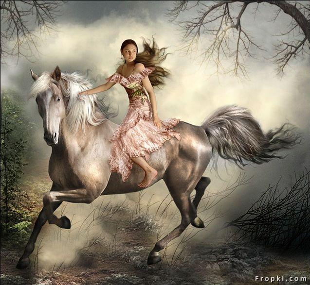horse riding girl