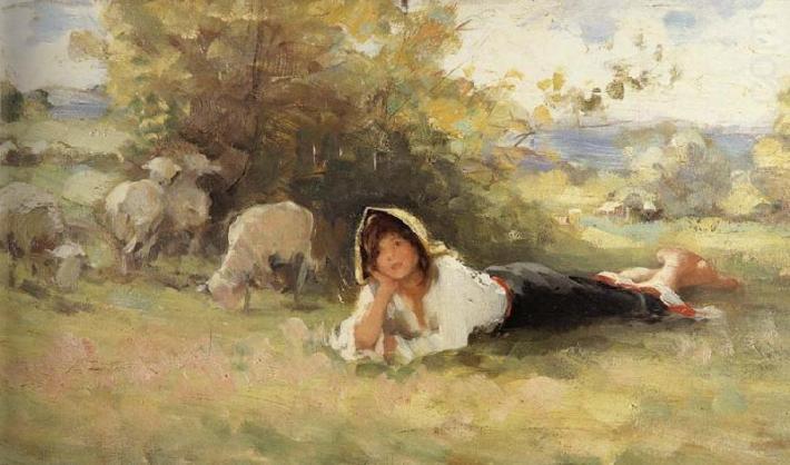 nicolae grigorescu - pastorita
