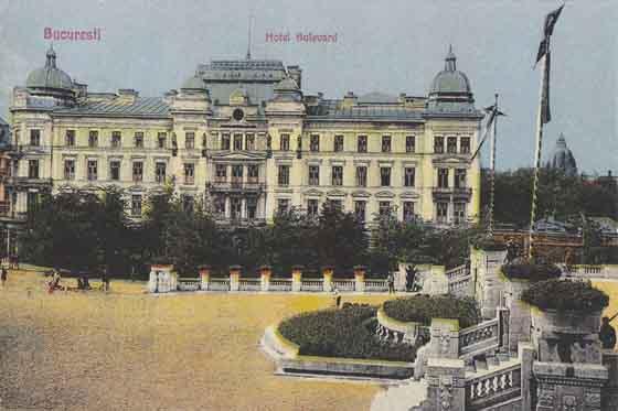 hotel bulevard, bucuresti, 1922
