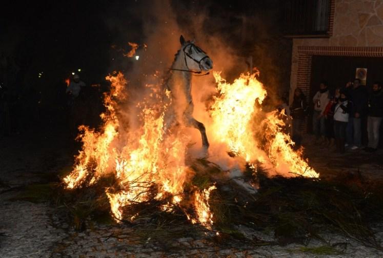 SPAIN-HORSES-RELIGION-FIRE