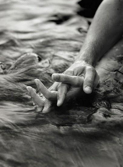 hands water
