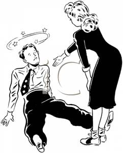 A_Retro_Cartoon_Woman_Helping_Her_Dance_Partner_Who_Has_Fallen_Royalty_Free_Clipart_Picture_100603-003029-778053